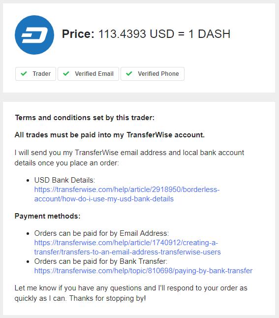 LocalCoinSwap Initiated Trade