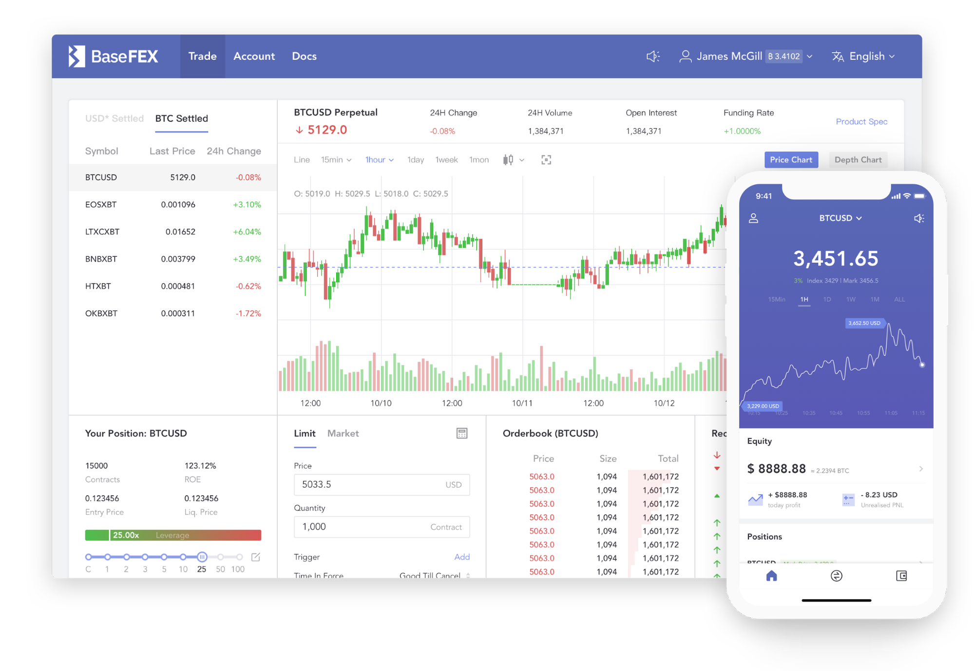 BaseFEX trading platform