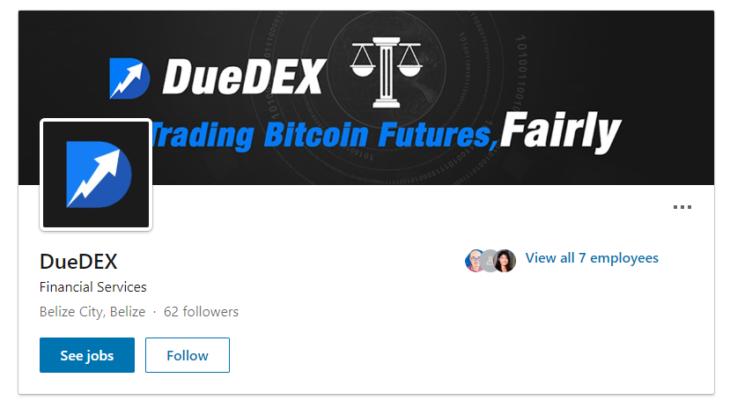 DueDEX LinkedIn